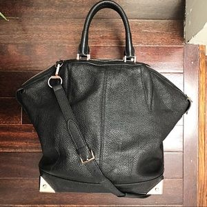 Alexander Wang  Emile Tote Satchel Bag Pebbled Lg